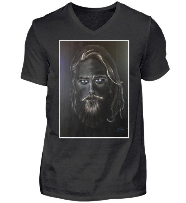 Man Blackline - Herren V-Neck Shirt-16
